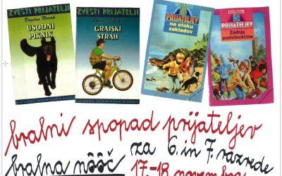 BRALNO-FILMSKA NOČ V ŠOLSKI KNJIŽNICI  ZA UČENCE 6.  IN  7. RAZREDOV