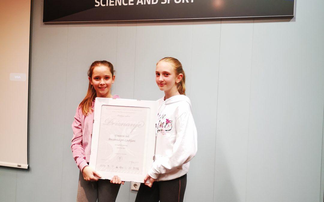 Podelitev priznanj najboljšim športnim šolam Slovenije